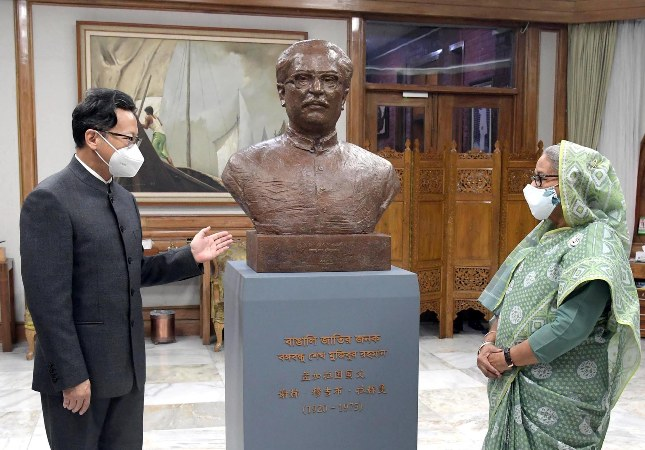 Chinese President sends  Bangabandhu's sculpture marking golden jubilee of Bangladesh's independence and birth centenary of Father of the Nation Sheikh Mujibur Rahman