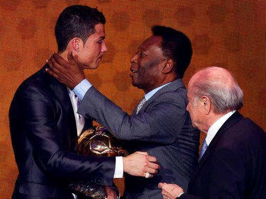 Pele congratulates hat-trick hero Ronaldo for 'breaking my record'