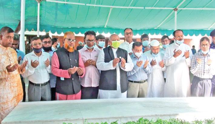 Munajat at the grave of Father of the Nation Bangabandhu Sheikh Mujibur Rahman