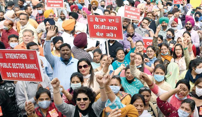 Bank strike cripples Indian state lenders