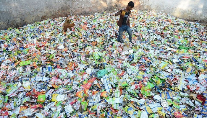 Plastic bags recycled into fabric to fight pollution