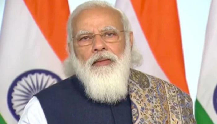 Indian PM Narendra Modi pays respect to Bangabandhu
