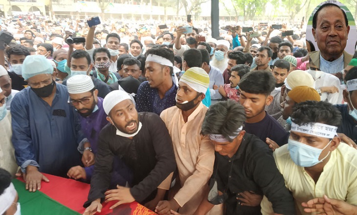 Moudud Ahmed laid to eternal rest