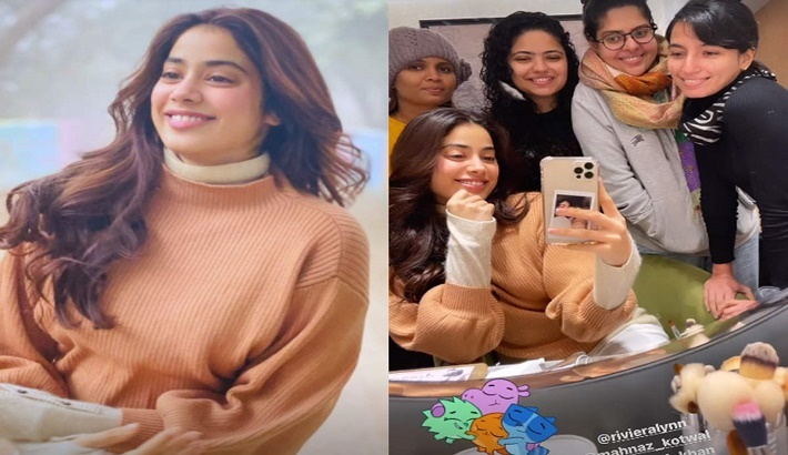Janhvi Kapoor announces wrap-up for Good Luck Jerry