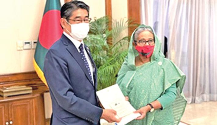 Japanese Ambassador to Bangladesh Ito Naoki hands over
