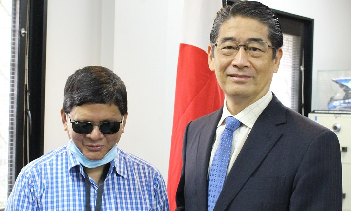 Japan provides Tk. 7 million to support persons with visual impairments