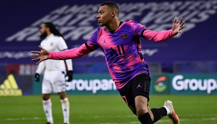 PSG beat Lyon to go top in France as Mbappe scores 100th Ligue 1 goal
