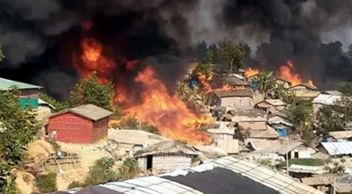7 killed in massive fire at Rohingya camp in Cox's Bazar