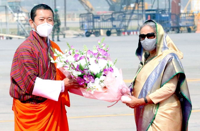 Bhutanese PM Dr Lotay Tshering arrives
