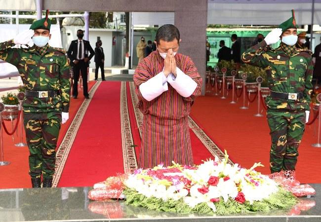 Bhutanese PM pays tributes to Bangabandhu