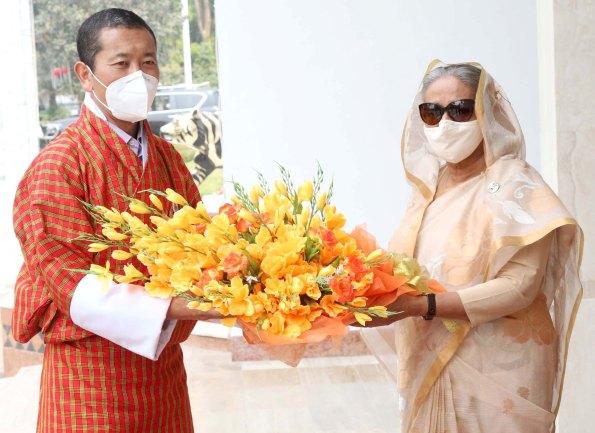 Sheikh Hasina, Lotay Tshering hold talks