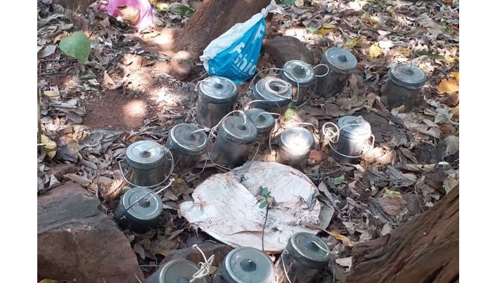 Huge torches, bomb-like substance recovered in Ctg
