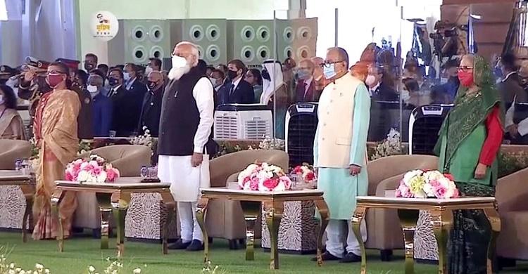 Indian PM Modi joins National Parade Ground programme