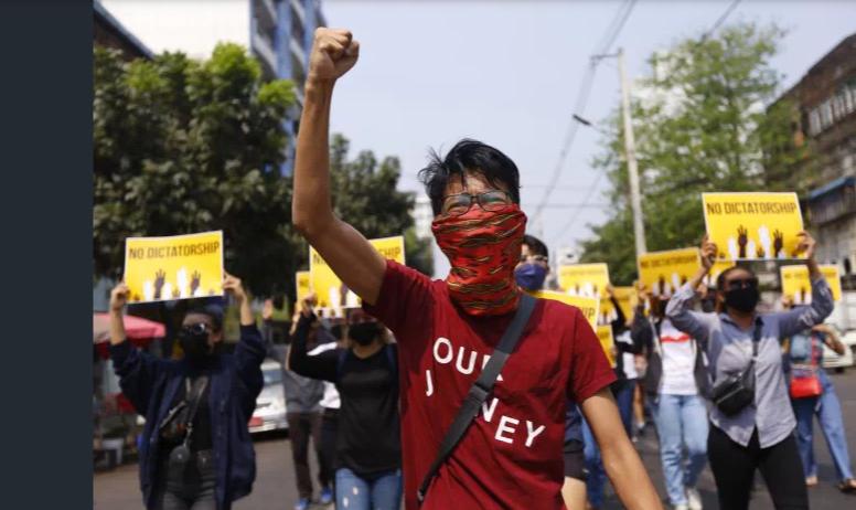 Myanmar protest deaths top 300 as US, UK impose sanctions
