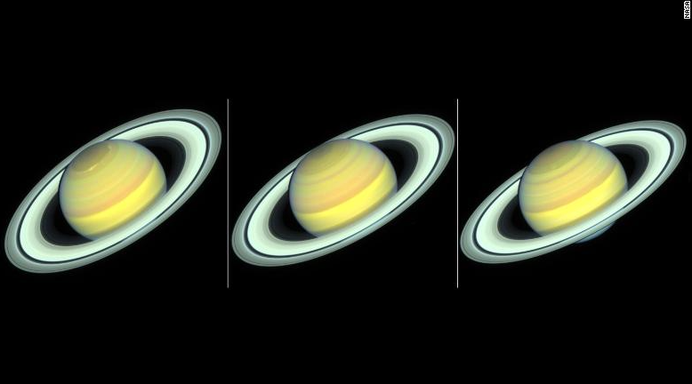 Hubble spies colorful change of seasons on Saturn