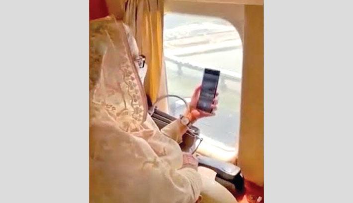 PM takes ariel view of Padma Bridge