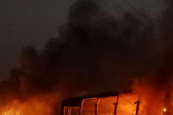 Hartal supporters set ablaze 9 vehicles in N'ganj