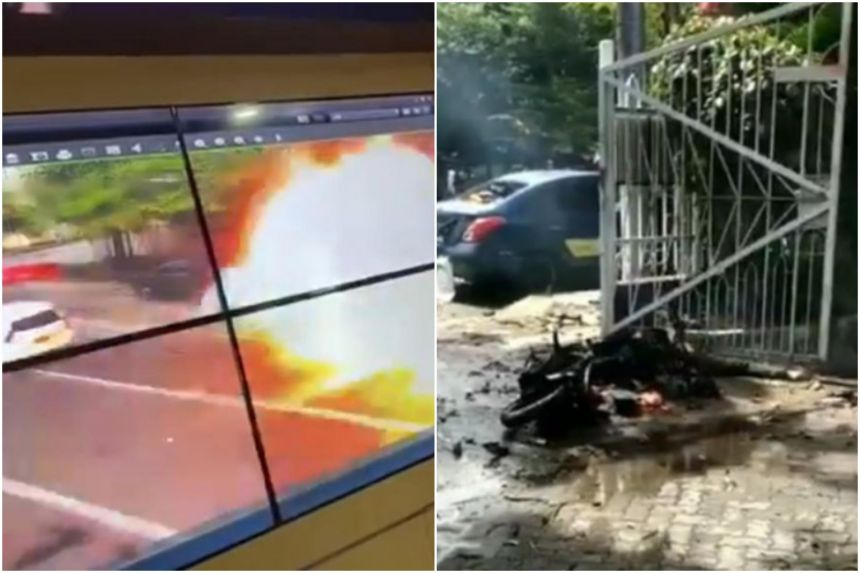 At least 14 injured in suspected suicide bomb attack at church in Indonesia