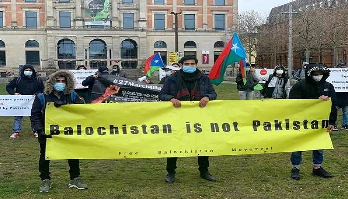 Free Balochistan Movement stage protest in Germany against occupation of Balochistan