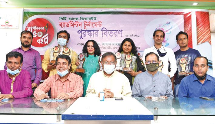 A prize distribution ceremony