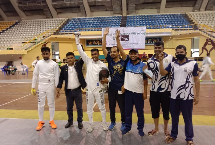 Fencer Imteaz earns first individual gold in Bangabandhu Bangladesh Games