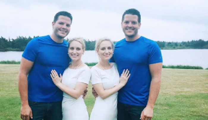 Identical twins got married to identical twins