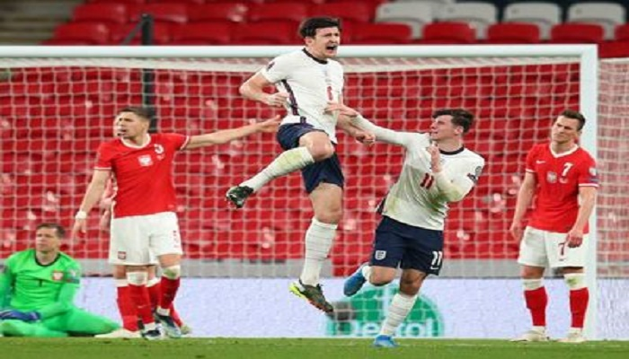 Maguire strikes late as England see off Poland to keep perfect record