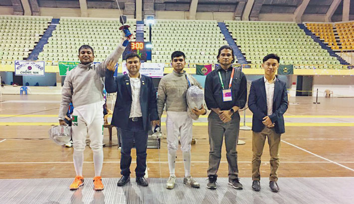 Iftekharul wins gold as Ansar dominate in fencing
