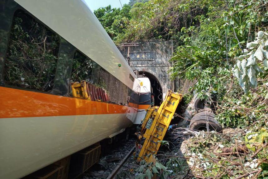 At least 48 dead as Taiwan train derails in tunnel