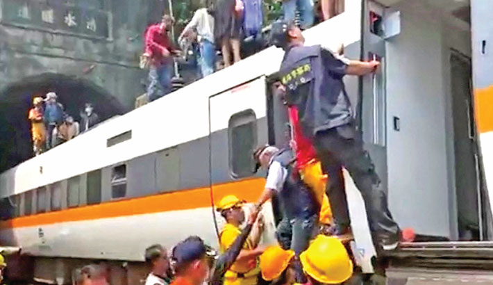 Over 50 killed as Taiwan train derails in tunnel