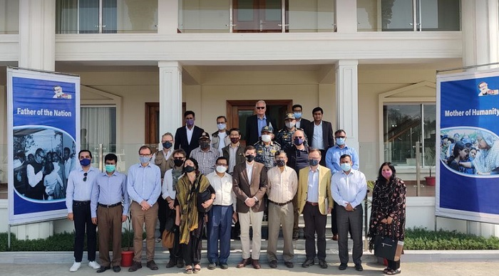 A Group of 10 Heads of Missions visited Bhashanchar