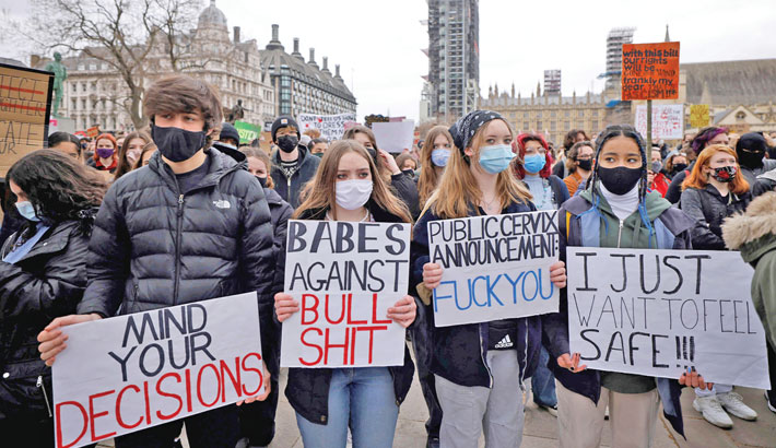 Hundreds join rallies across UK against new protest law