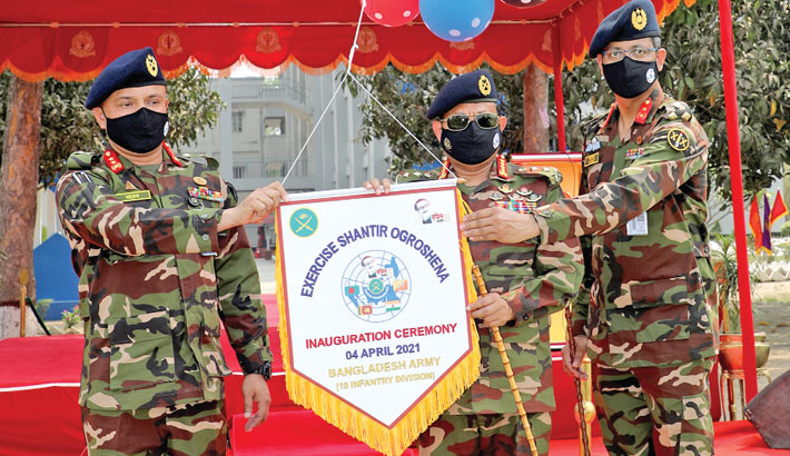 Int'l military exercise 'Shantir Ogroshena' inaugurated