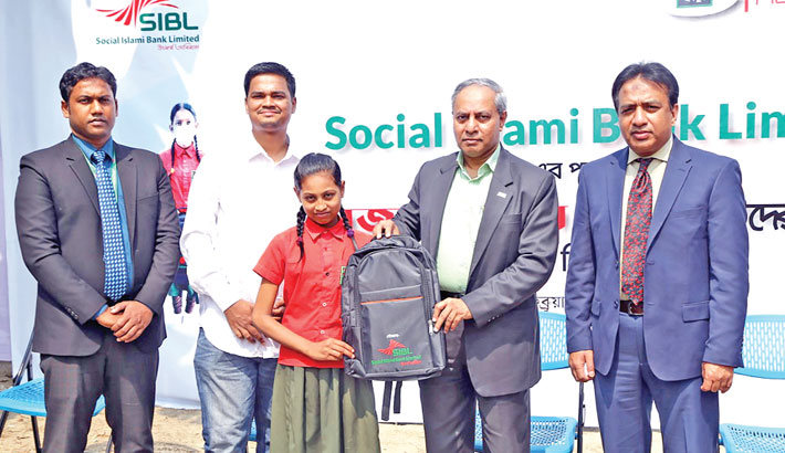 SIBL donates bags to Mojar school