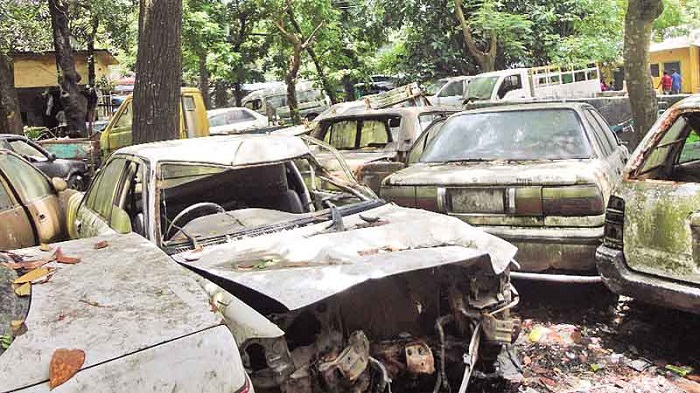 Seized vehicles left to decay