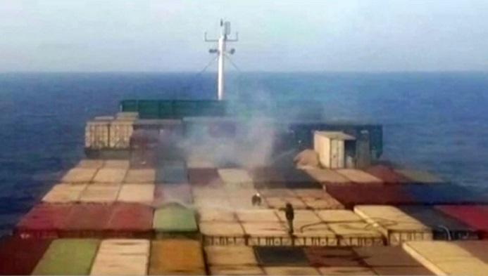 Iran ship serving as Red Sea troop base near Yemen attacked