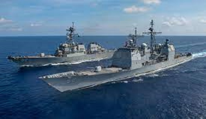 Amid rising tensions, China, US send warships in disputed waters
