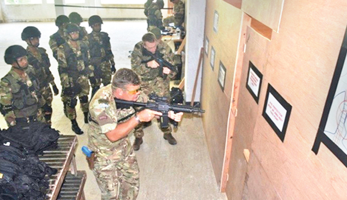 Combined military exercise held