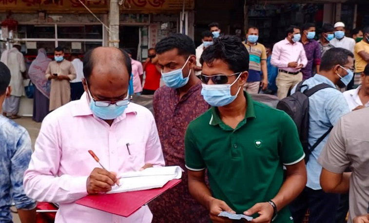 60 people fined for breaching COVID-19 safety rules in Bhola