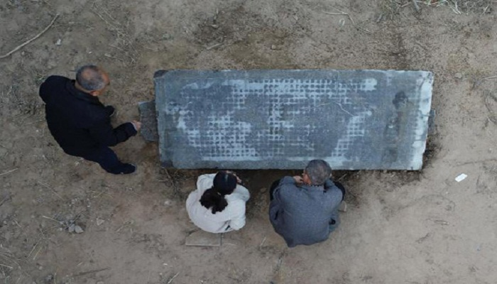 Qing dynasty stone tablet found in north China