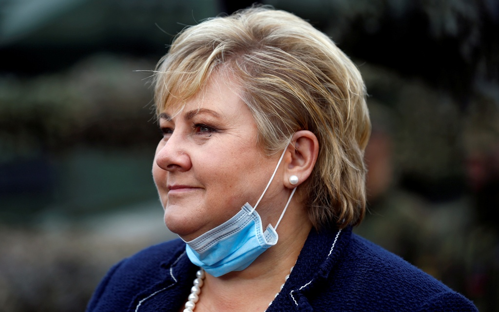 Police fine Norway prime minister over virus rules violation