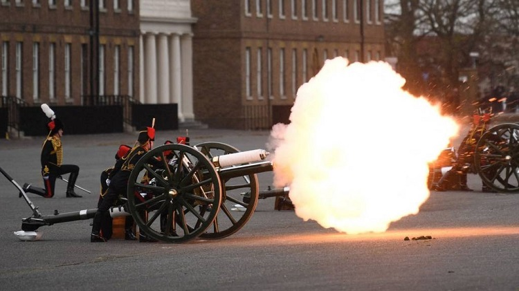 Gun salutes held to mark death of Prince Philip