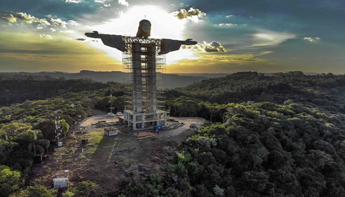 World's biggest Jesus statue measuring 141ft high being constructed