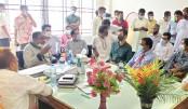 Jhenaidah-2 lawmaker Tahzeeb Alam Siddique Sami exchanges views with