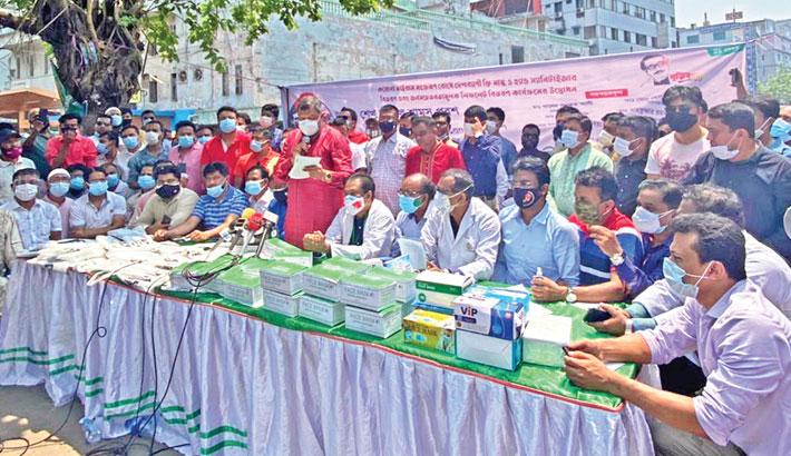 Jubo League starts distributing masks, hand sanitizer