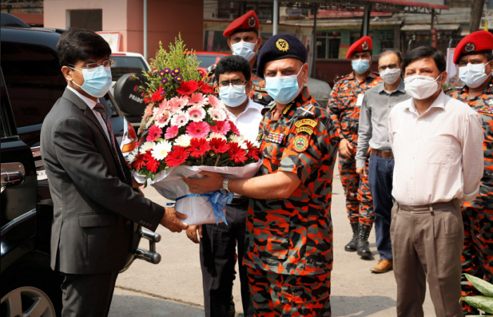 Newly joined security service division secretary visited fire service directorate