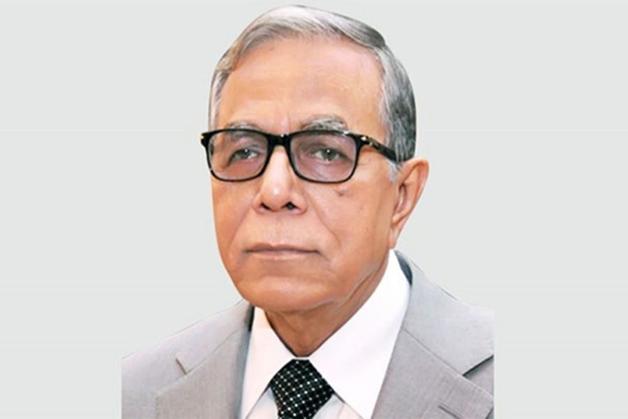 President mourns death of Shamsuzzaman Khan