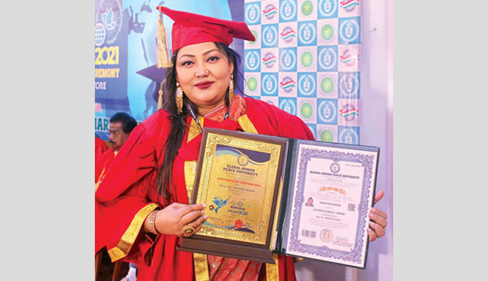 Momotaz honoured with 'Doctor of Music'