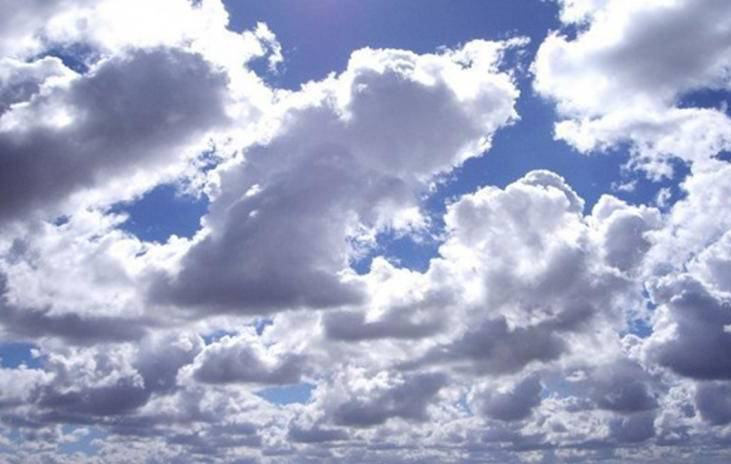 Mainly dry weather with partly cloudy sky over country