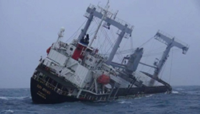 Five missing after ship sinks in east China